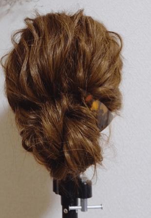 女子会にピッタリ♪時短まとめ髪アレンジBACK