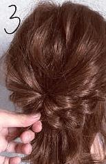 くるりんぱとロープ編みで簡単☆お洒落まとめ髪3