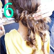 ねじねじだけでできる!☆簡単キレイなまとめ髪6