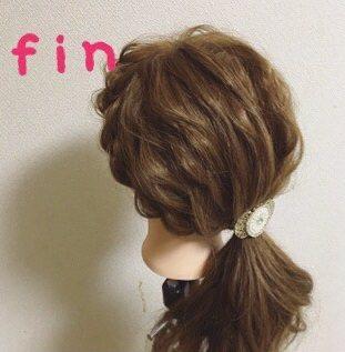いつものひとつ結びにひと手間☆サイド三つ編みで作る愛されヘア5