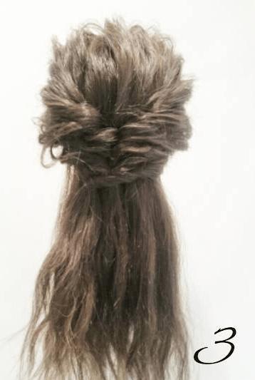 くるりんぱとフィッシュボーンで作るボリュームお呼ばれヘア♡3