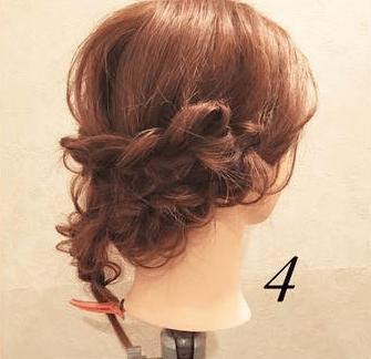 編み込みが大人カワイイまとめ髪4