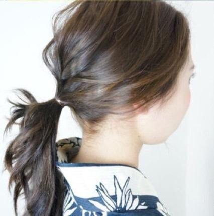 浴衣にとっておき☆ロープ編みで作るまとめ髪3