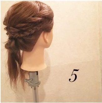 横顔美人♡サイド三つ編みの浴衣ヘア5