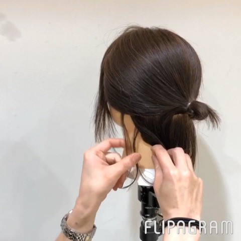 短い髪でもできちゃう!?ルーズお団子アレンジ☆3