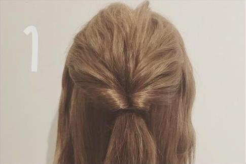 三つ編み&くるりんぱdeゴージャスまとめ髪1