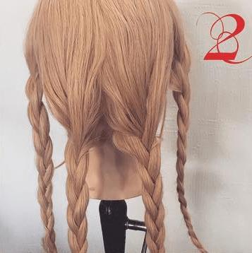 三つ編みで☆エレガントなまとめ髪2