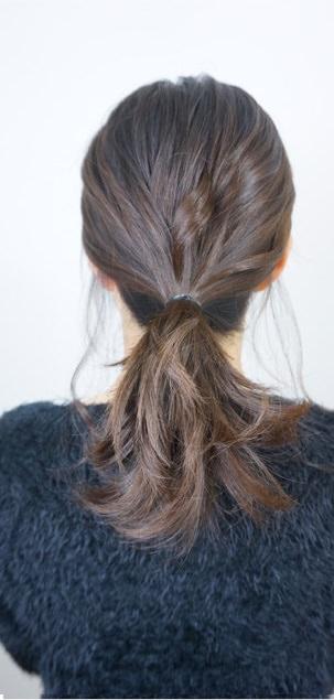 簡単♪カジュアルなまとめ髪2