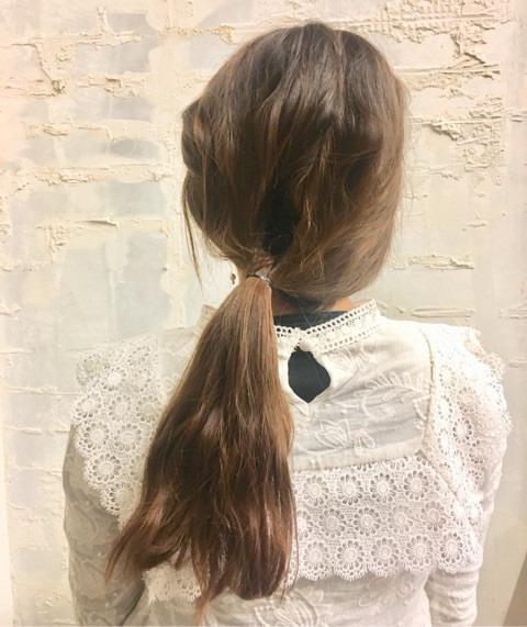 くるりんぱと三つ編みで簡単まとめ髪☆1