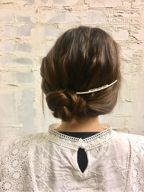 くるりんぱと三つ編みで簡単まとめ髪☆
