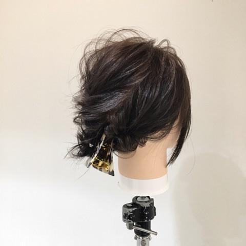 黒髪ボブの魅力を最大限に活かした浴衣にピッタリのヘアアレンジtop
