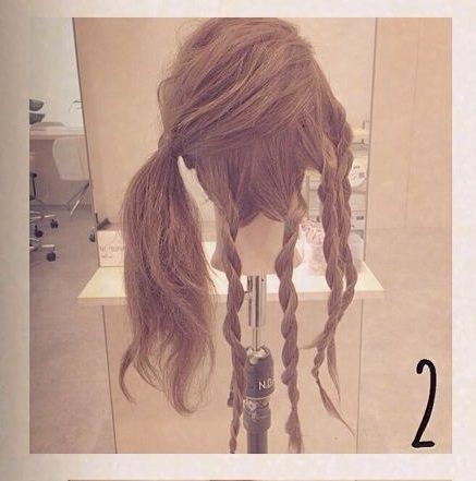 ゆるふわ☆ロープ編みdeまとめ髪2