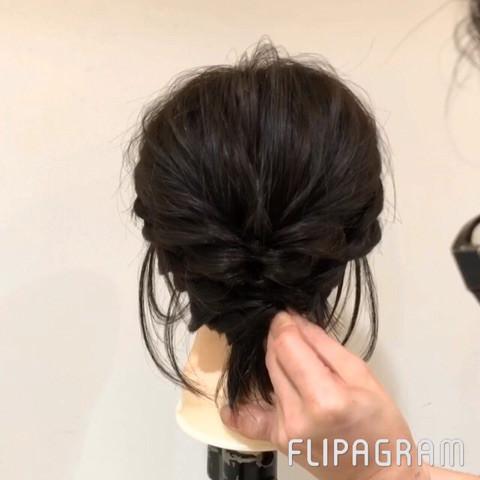 切りっぱなしボブから簡単にまとめ髪が作れる!5