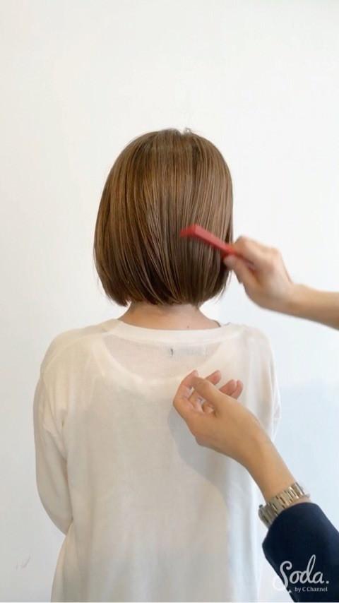 プロダクトワックス&セラムで出来る流行のセミウェットヘアの作り方♪7