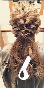 くるりんぱと三つ編みだけで簡単お呼ばれヘア♪6
