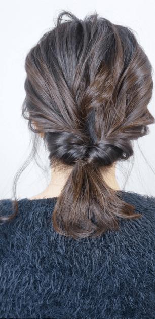 簡単♪カジュアルなまとめ髪4