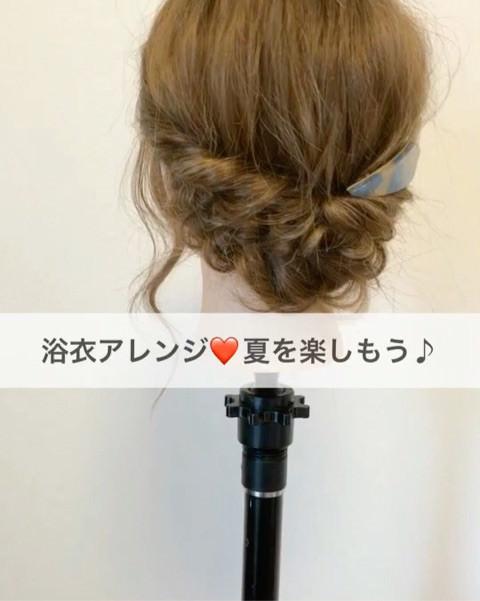 夏前に習得☆浴衣に映えるまとめ髪アレンジ6