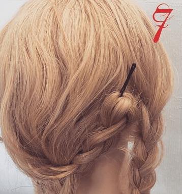 三つ編みで☆エレガントなまとめ髪7