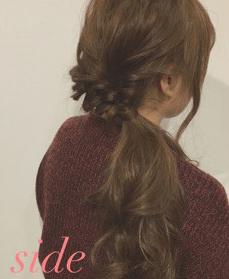 簡単♪きれいなサイドヘアアレンジ3