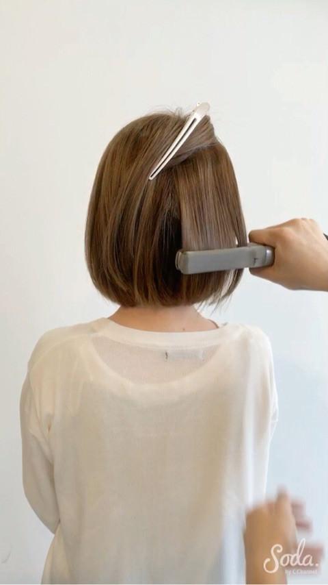 プロダクトワックス&セラムで出来る流行のセミウェットヘアの作り方♪2
