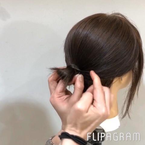 短い髪でもできちゃう!?ルーズお団子アレンジ☆5