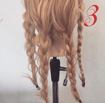 三つ編みで☆エレガントなまとめ髪3