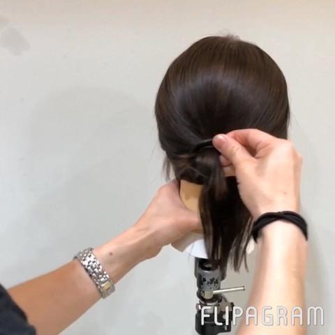 短い髪でもできちゃう!?ルーズお団子アレンジ☆4