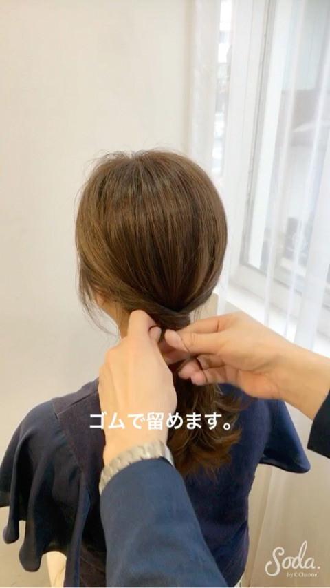後ろ姿にキュン♡今ドキ時短ポニテ4