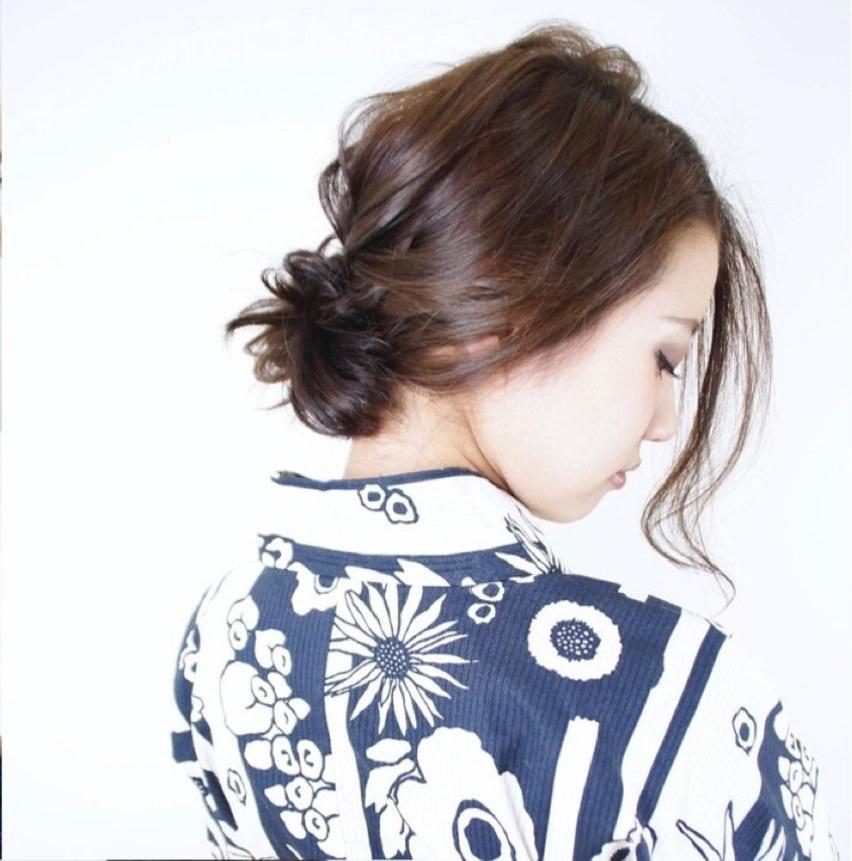 浴衣にとっておき☆ロープ編みで作るまとめ髪