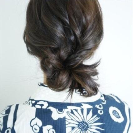 浴衣にとっておき☆ロープ編みで作るまとめ髪5