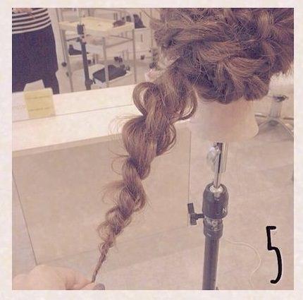 ゆるふわ☆ロープ編みdeまとめ髪5