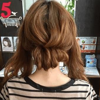 ねじって、くずして、簡単華やかまとめ髪5
