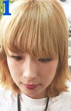 伸ばし中でもOK◎前髪アレンジ1