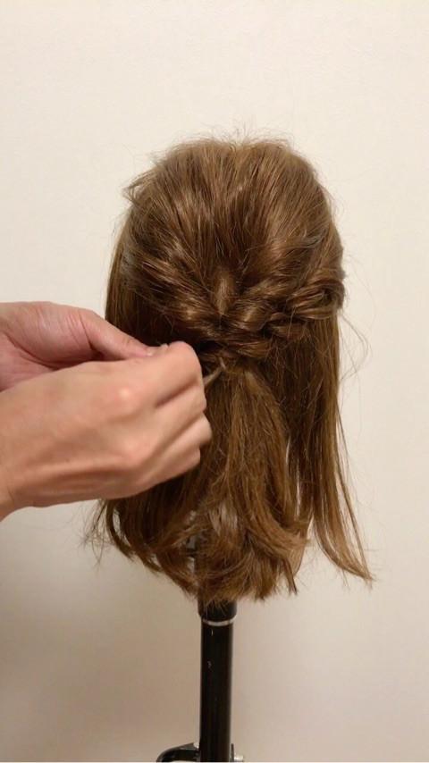 ミディアムヘアの♪大人キレイなお呼ばれスタイル4