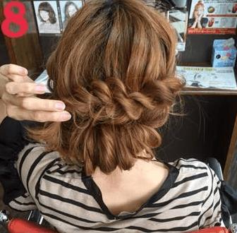 ねじって、くずして、簡単華やかまとめ髪8