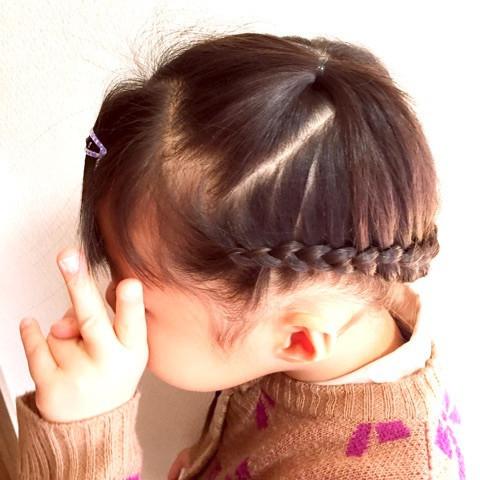 短い髪が出ない!片編み込みアレンジ☆2