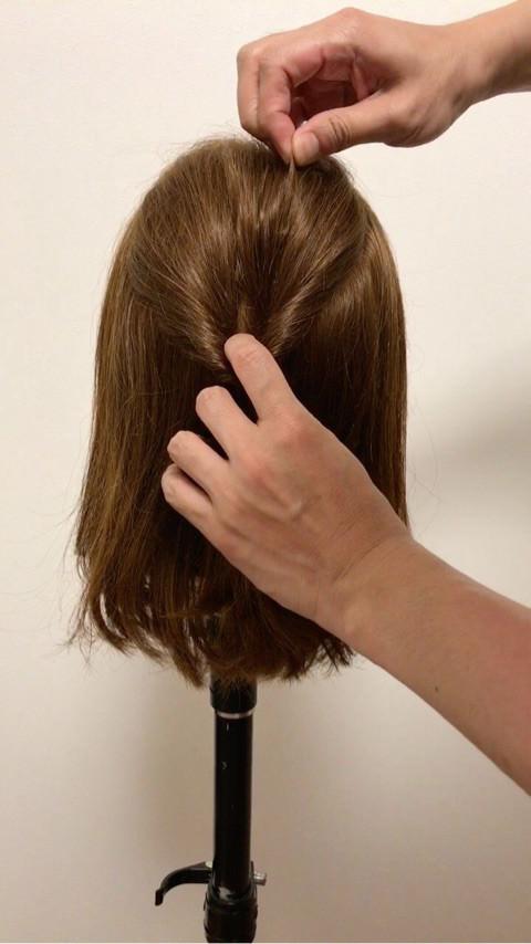 ミディアムヘアの♪大人キレイなお呼ばれスタイル2