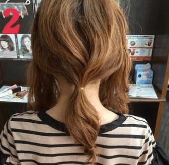 ねじって、くずして、簡単華やかまとめ髪2