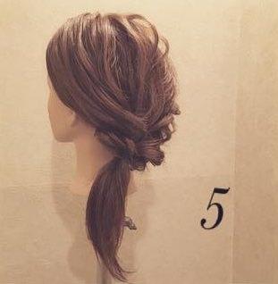 ロープ編みdeふんわり流しヘア6