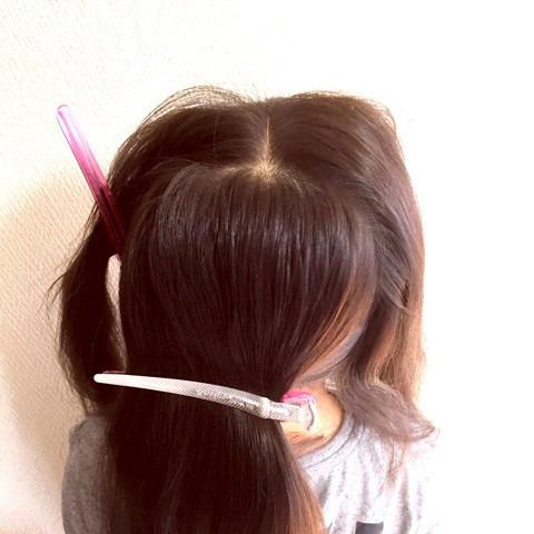 髪で作るリボンが可愛い!編み下ろしアレンジ1