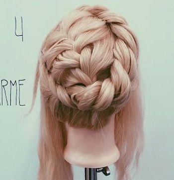 貴族風♡編みまとめ髪4