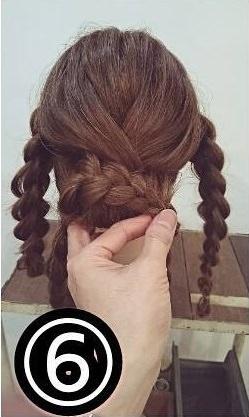 三つ編みだけでできるスッキリまとめ髪☆6