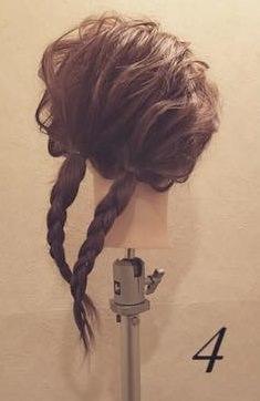 ふんわり☆ロープ編みまとめ髪4