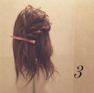 ロープ編みdeふんわり流しヘア4