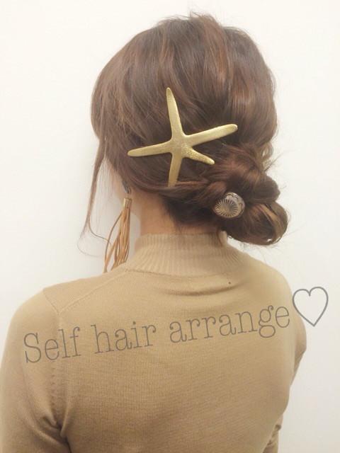 三つ編みをクルクルっと!夏にピッタリのまとめ髪アレンジTOP