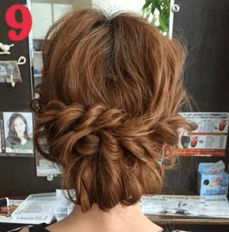 ねじって、くずして、簡単華やかまとめ髪9