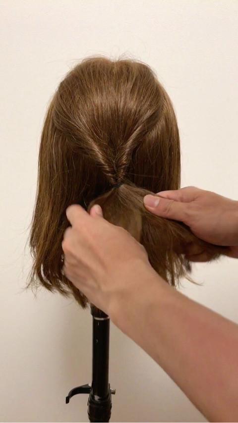 ミディアムヘアの♪大人キレイなお呼ばれスタイル1