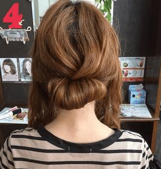 ねじって、くずして、簡単華やかまとめ髪4