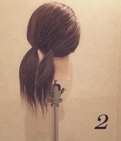 ふんわり☆ロープ編みまとめ髪2