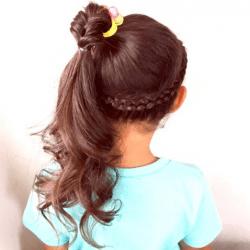 簡単にできる子供のヘアアレンジ ヘアレシピ 頭美人